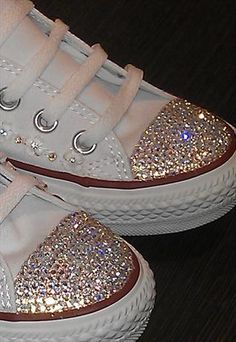 dc29fb3a6c48 Make your Converse shoes sparkle with this glittery how-to!  glitter   Converse