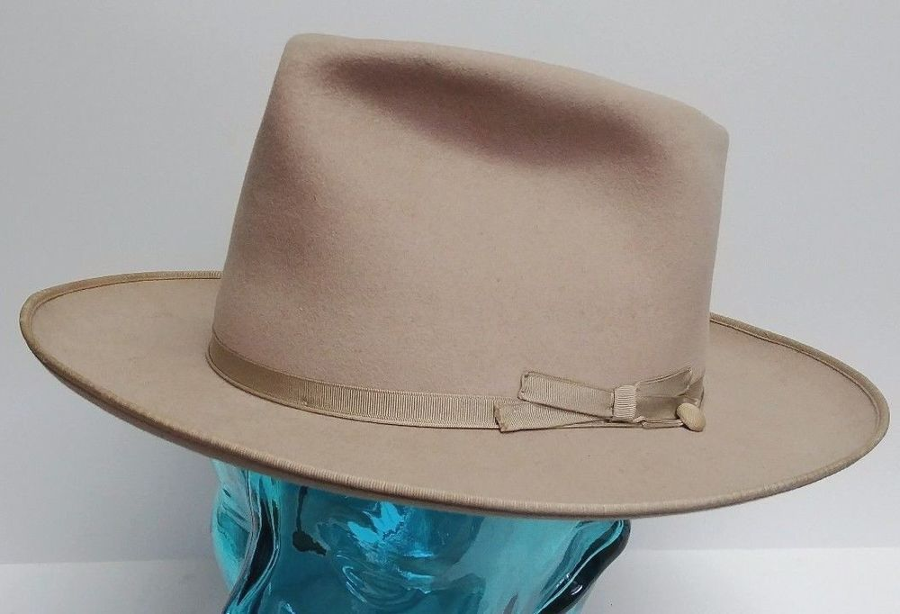 4818ac32bc858 Details about Vintage 1940 s Stetson Royal DeLuxe Open Road Felted ...