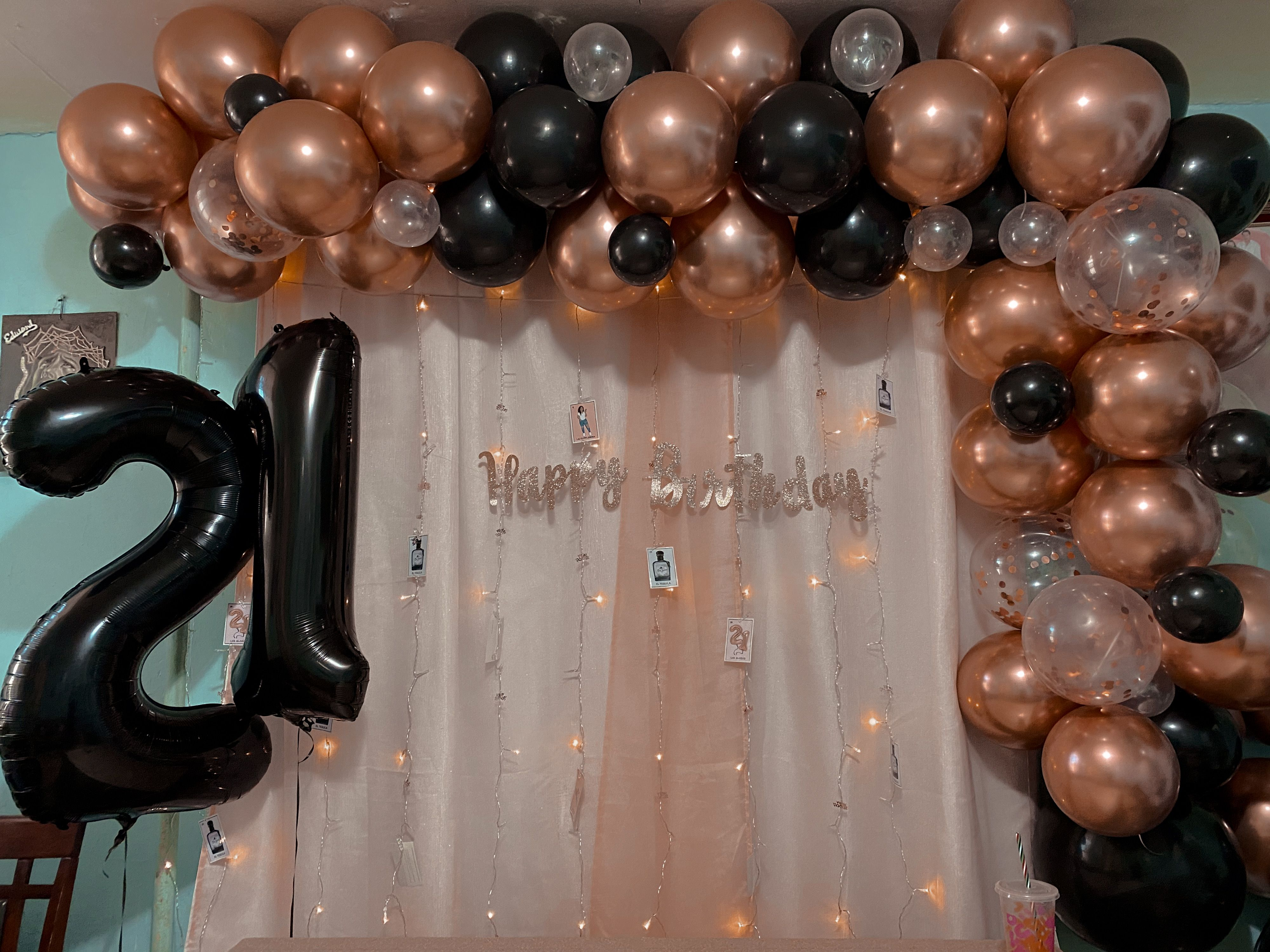 Rose Gold And Black Color Theme 21st Birthday Party Rose Gold Party Theme Gold Theme Birthday Gold Theme Birthday Party