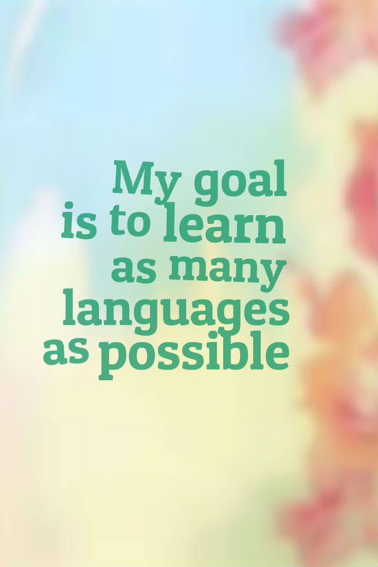 Language goals. 加油!