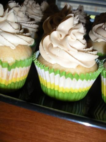 easy, creamy peanut butter frosting :] Im using this for a chocolate cake Im making!