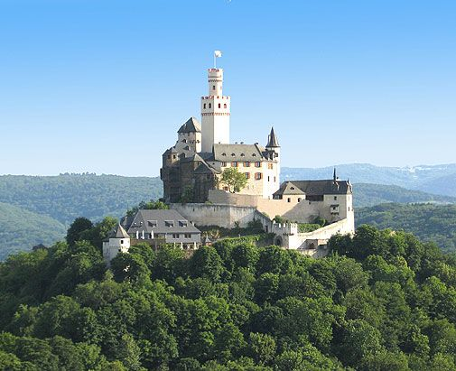 Marksburg Castle in Germany is the only hill castle on the Rhine that has never been destroyed.