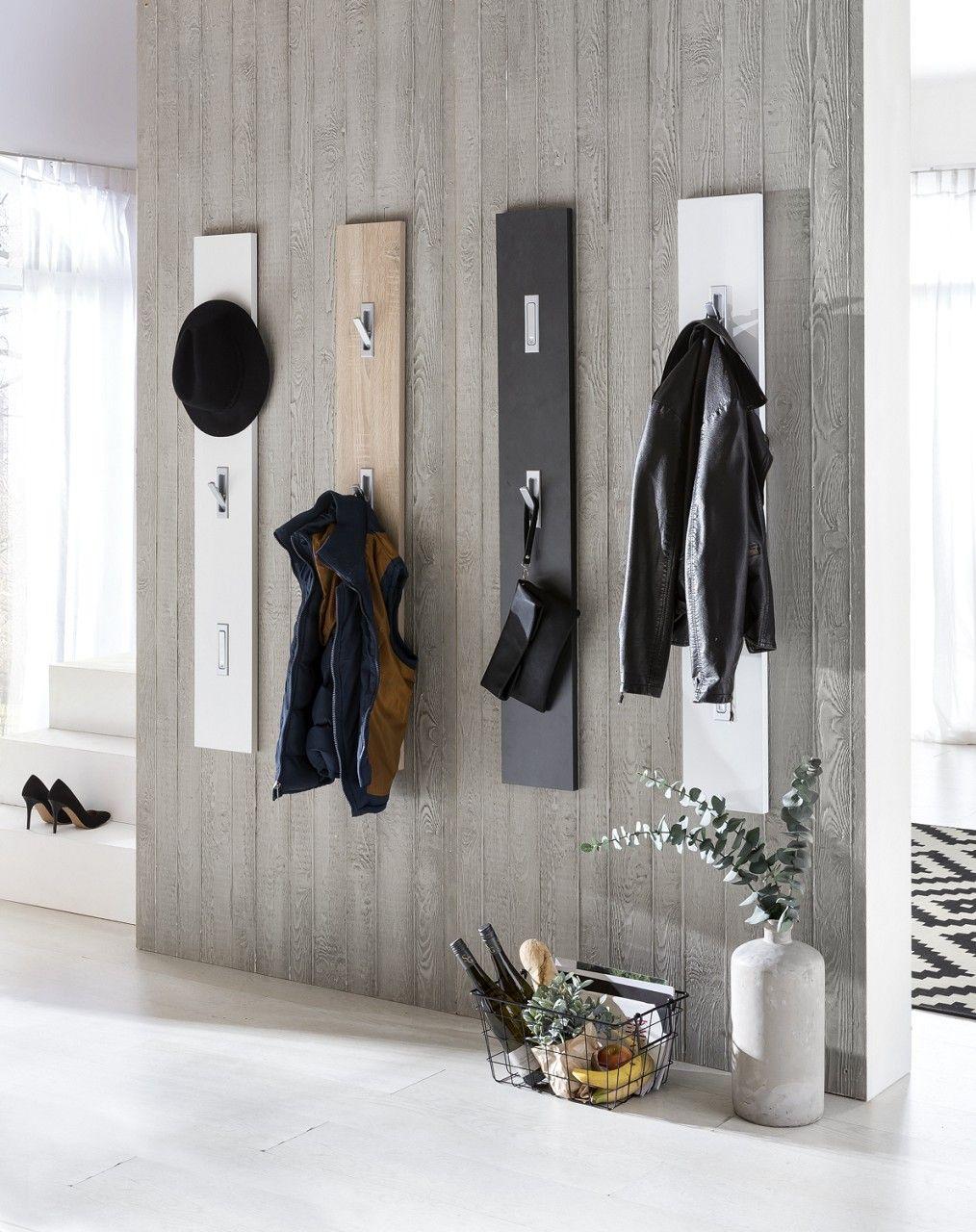 Garderobenpaneel Garderobenhaken Style Dekor Weiss Hochglanz