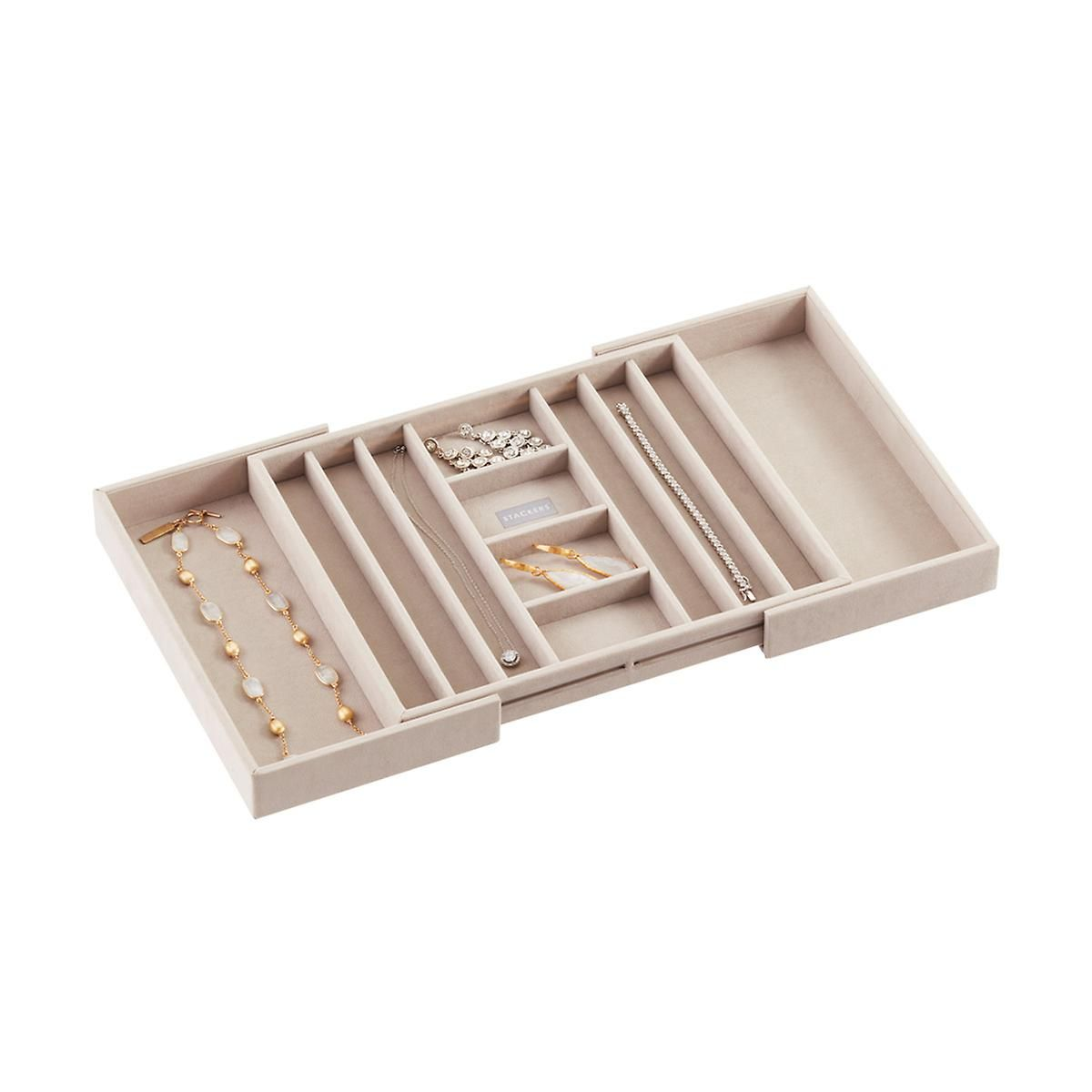 Stackers Medium Expandable Necklace Tray Container store and Trays