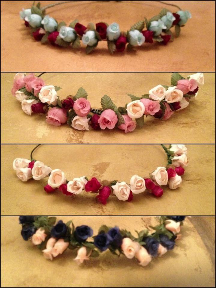 corona de flores mitad coronas de flores