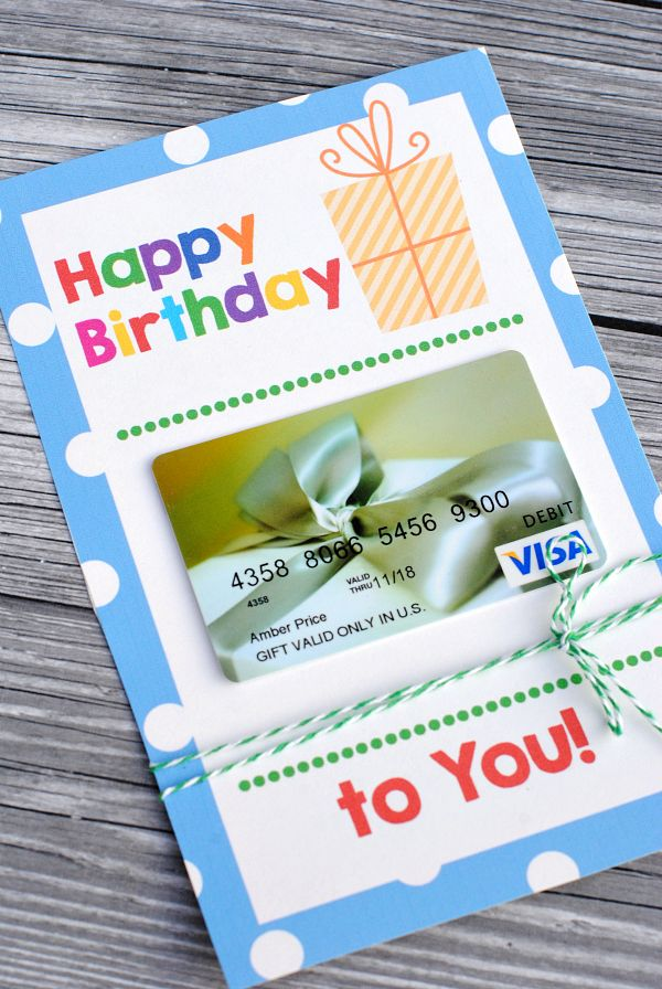Free Printable Birthday Cards That Hold Gift Cards Birthday