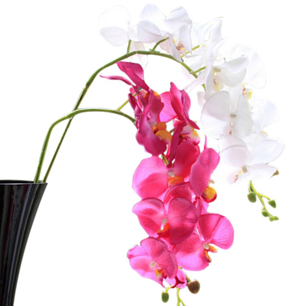 1pcs artificial butterfly orchid silk flower home wedding party 1pcs artificial butterfly orchid silk flower home wedding party decor phalaenopsis izmirmasajfo Gallery