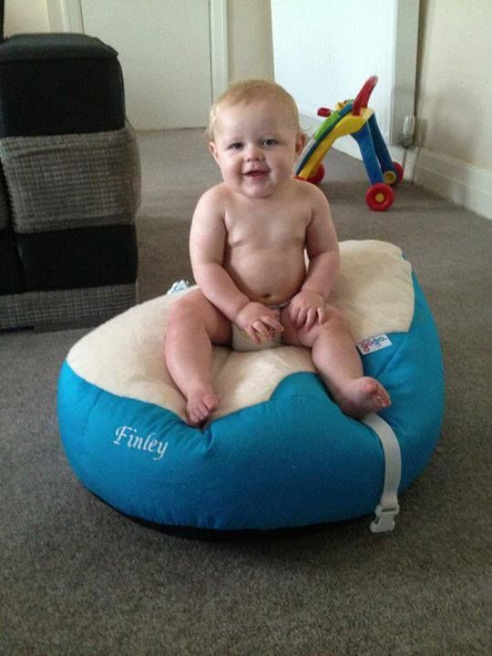Sensational Baby Finley Looks So Pleased With His Luxury Cuddle Soft Machost Co Dining Chair Design Ideas Machostcouk