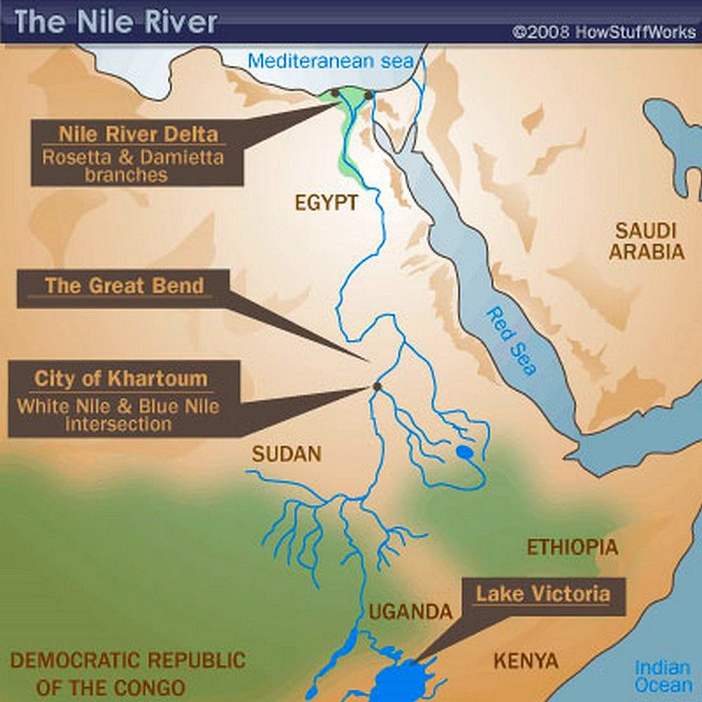 Nile River Map  Maps  Pinterest  Nile river and Geography