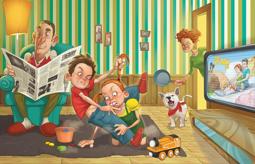 Семейка картинки прикольные, поздравление днем рождения