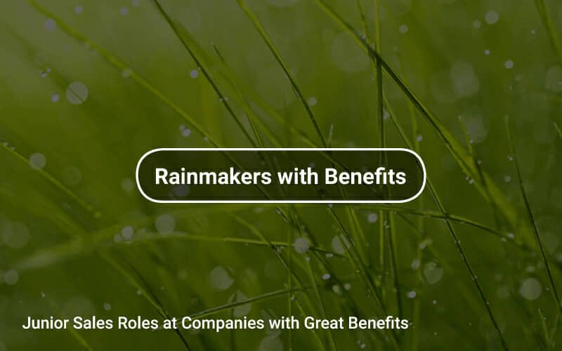 Junior sales and bizdev roles at companies with great