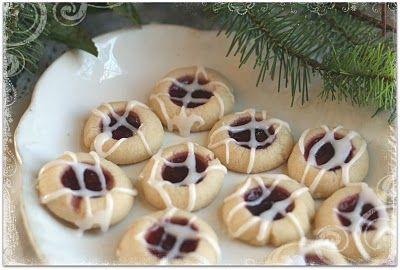 Raspberry Almond Short Bread Thumb Prints.