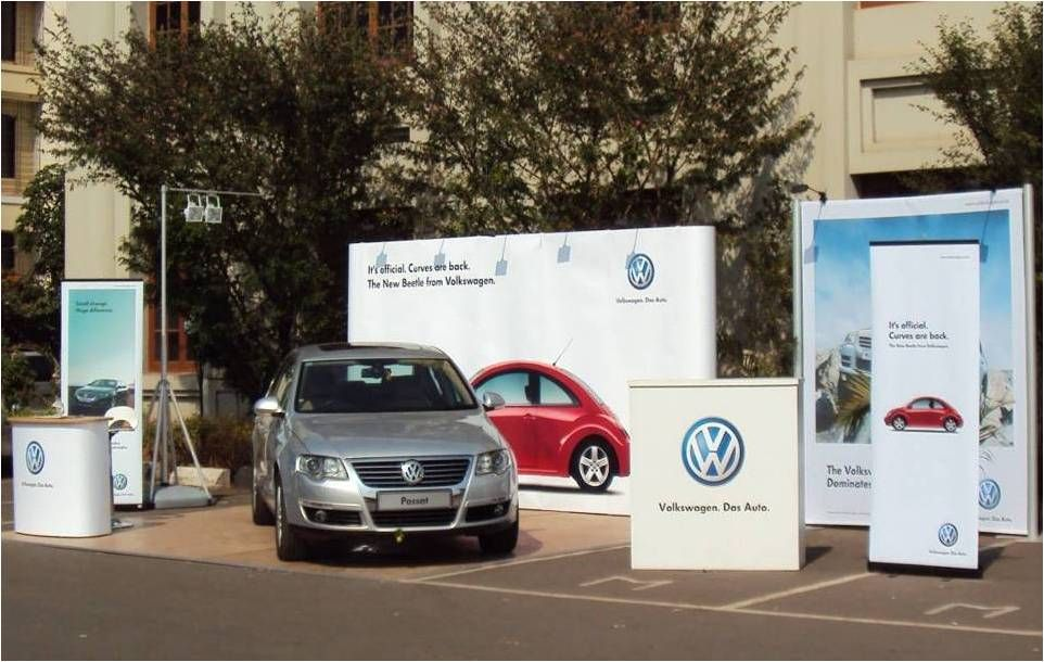 Outdoor Brand Activation Stand for Volkswagen. Years of experience and a track record of constant innovation makes INSTA a single source provider for all your organization's Exhibition and  Activation needs. Know more at www.insta-group.com