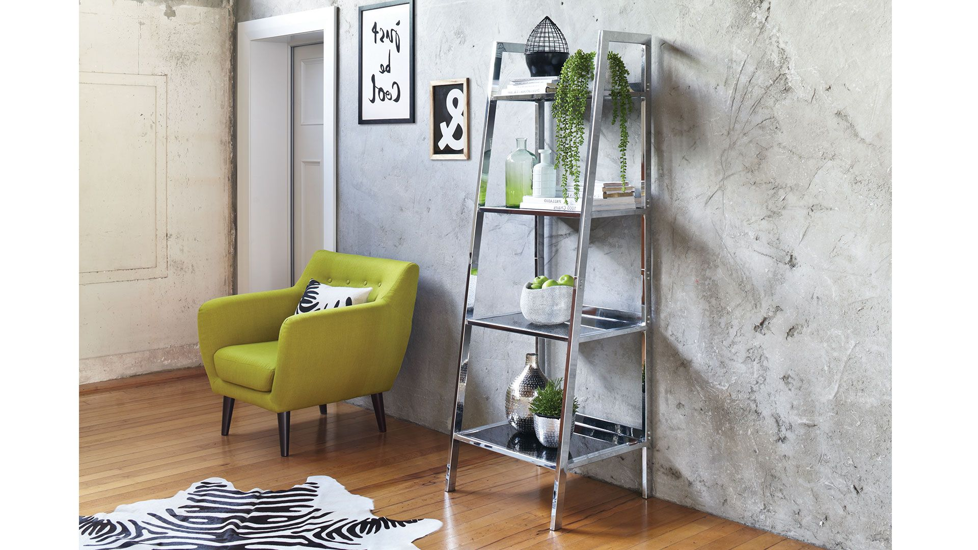 The arnoux ladder shelf is a sleek smart and modern piece of
