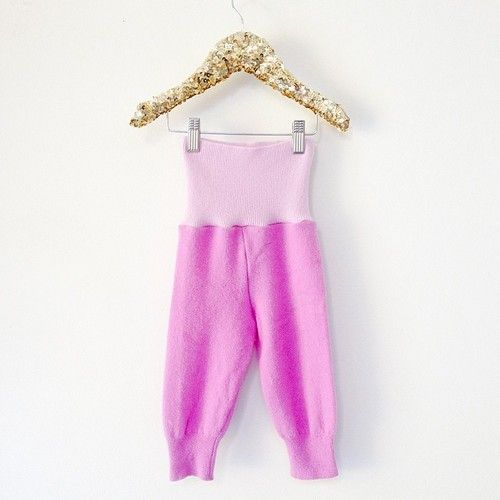 Super cute upcycled cashmere baby trousers 1-2yrs