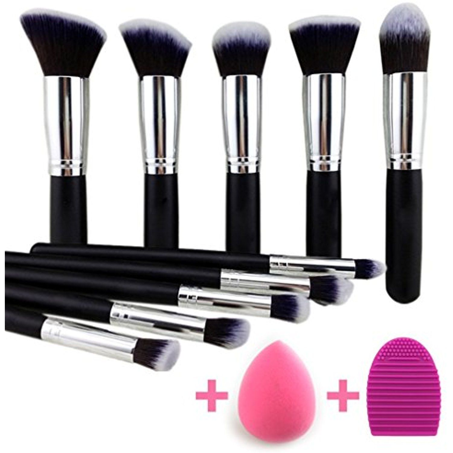 BEAKEY Makeup Brush Set Premium Synthetic Kabuki