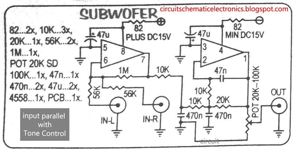 subwoofer module amplifier using 4558 with pcb electronic rh pinterest com JRC4558 IC Chip JRC4558 Chip