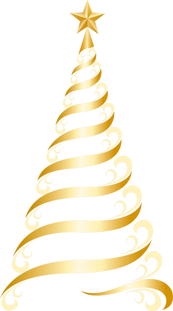 Transparent Golden Deco Tree PNG Clipart | Christmas tree clipart, Christmas calligraphy, Gold christmas tree