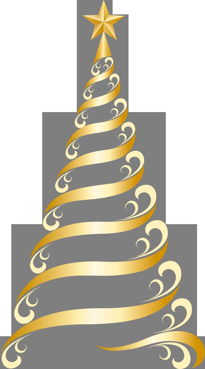 Transparent Golden Deco Tree PNG Clipart Sfondo