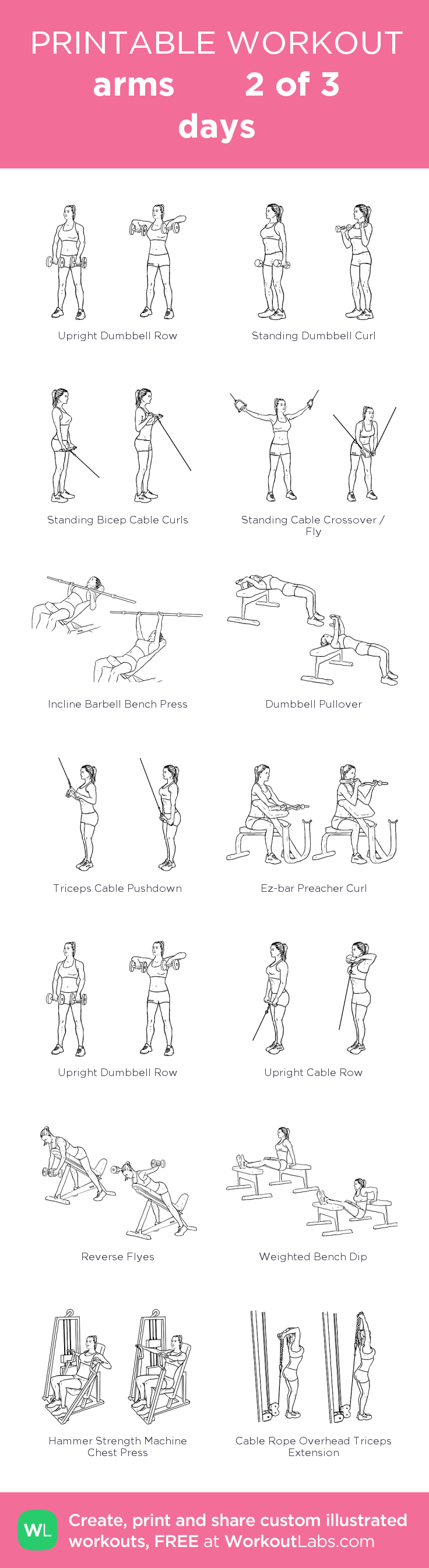 arms 2 of 3 days: my custom printable workout by