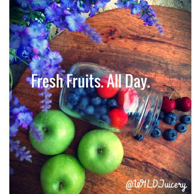 fresh fruit. fresh everything. freshest.