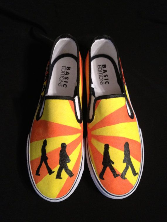 94e5b7ab694 Custom Designed Hand Painted Shoes on Etsy