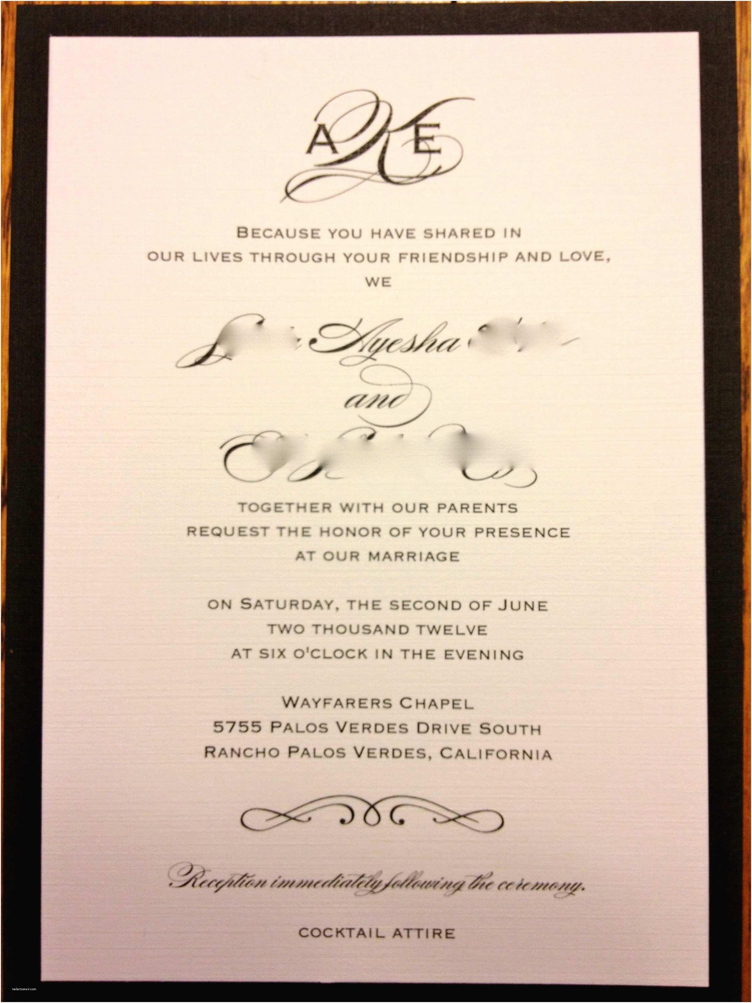5 Personal Invitation Card in 5  Wedding invitation message