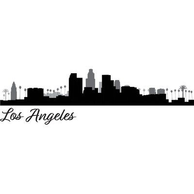 Wallpops Los Angeles Cityscape Wall Decal Wayfair In 2020 Los Angeles Cityscape Los Angeles Wall Art Los Angeles Skyline