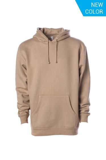10139b62d46c IND4000 New Color light brown sandstone sand trend fall hoodie sweatshirt -  Independent Heavyweight Hooded Pullover Sweatshirt - Independent Trading Co.