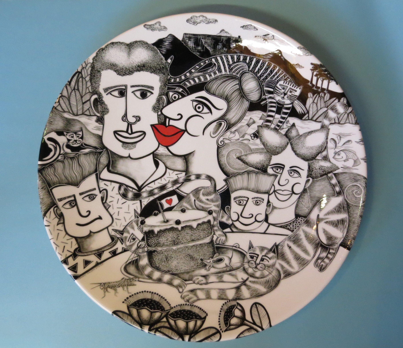 """Series of original """"Story Plates"""" By Tiffany Wallace SA"""