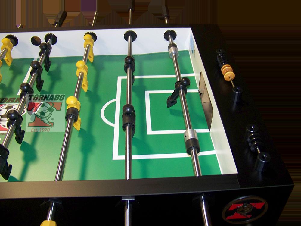 Tornado T Splitcabinet Noncoin Table In Matte Black Laminate - Single goalie foosball table