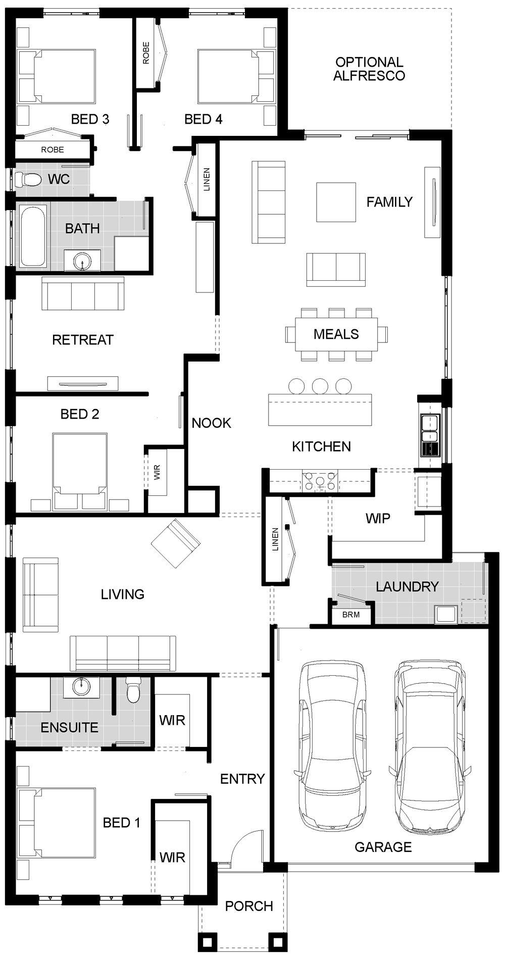 A nice layout austin 1 casa vg pinterest casas for Casas de campo modernas
