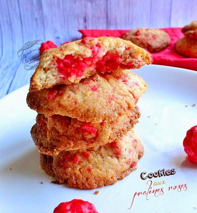 Cookies aux pralines roses : Il était une fois la pâtisserie