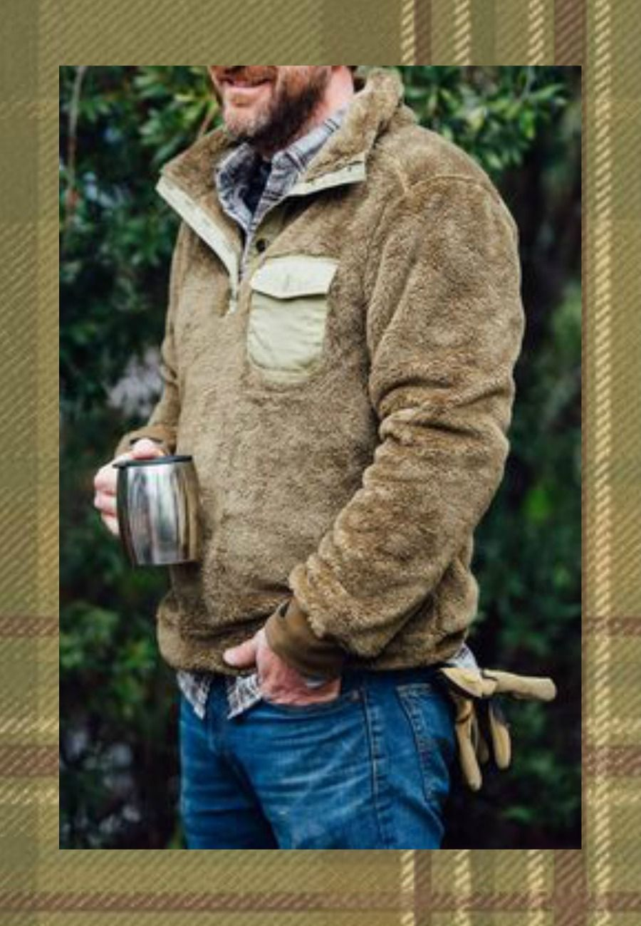 Would love this for MyDad ----- Men's fleece pullover in Birchwood by Buffalo Jackson Trading Co. (Costs $124.95)    @rockinmama @signaturejeans