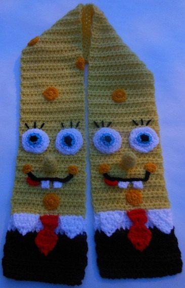 Spongebob Scarf Crochet Pattern by WistfullyWoolen on Etsy, £2.89