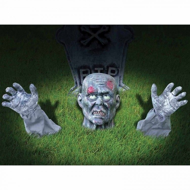 Zombie Halloween Decoration Groundbreaker Animated Party Scary - zombie halloween decorations