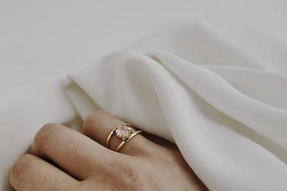 Rosenquarz Gold Ring Rohen Edelstein Ring Gold Ring Alternative Verlobungsring Rohen Stein Gold Ring Rauchquarz Gold Skalenring Rosenquarz Verlobungsring Ring Verlobung