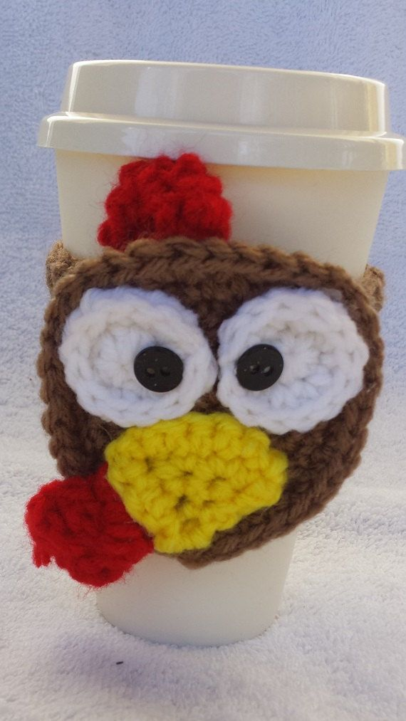 24ebf9ea1424c Pin by Kreative Journey on Etsy Shops! | Coffee cup cozy, Turkey cup ...