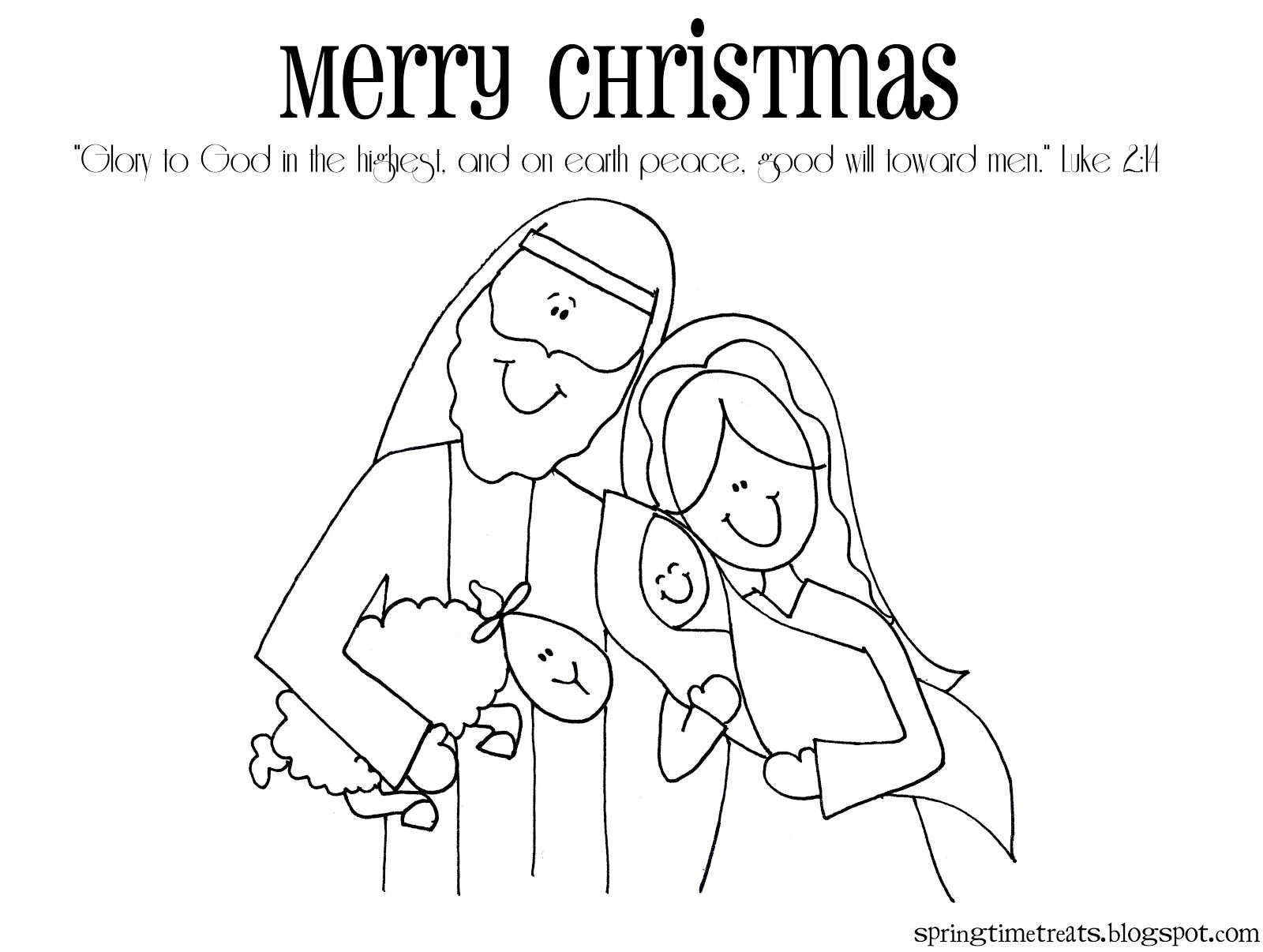 Coloring Pages Of Christmas Manger Scene