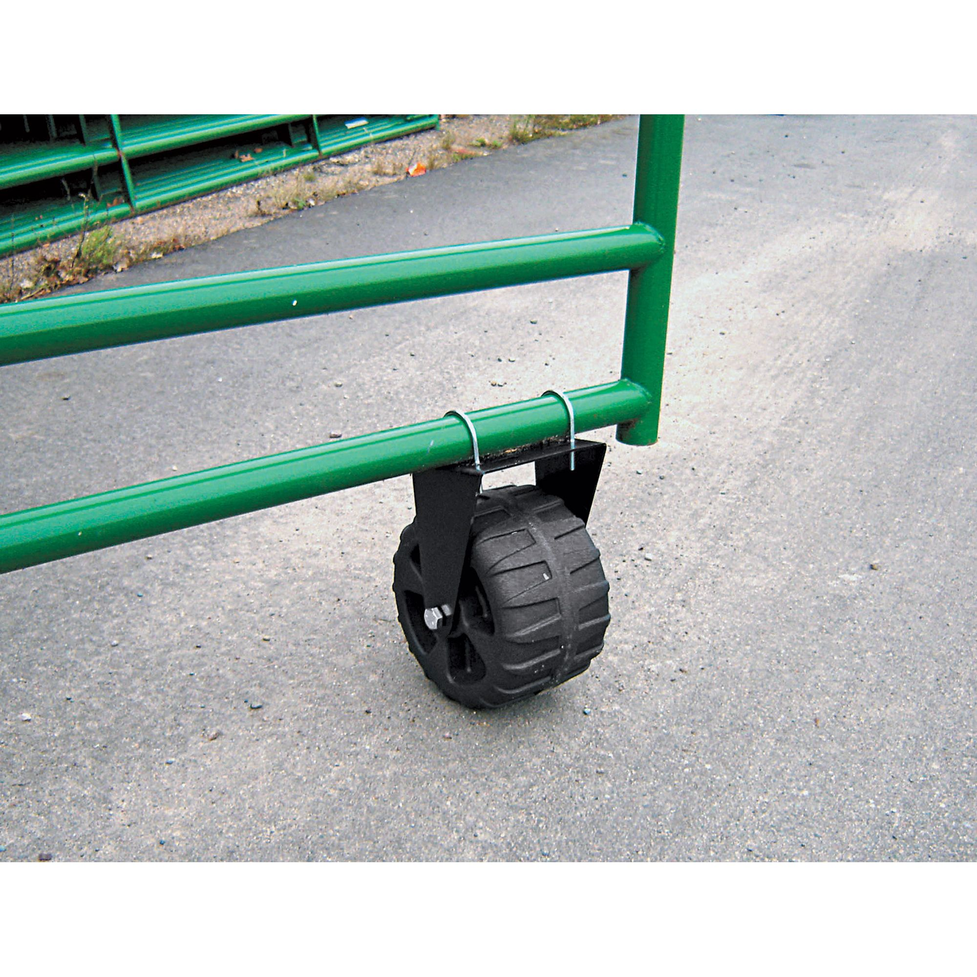 Supportive Rolling Gate Wheel — 300 lb Capacity 9 5 8in D x 6in