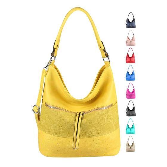 OBC Damen Tasche Blumen Shopper Tote Bag Handtasche Umhängetasche Schultertasche Beuteltasche Leder Optik Hobo Crossbody #bag