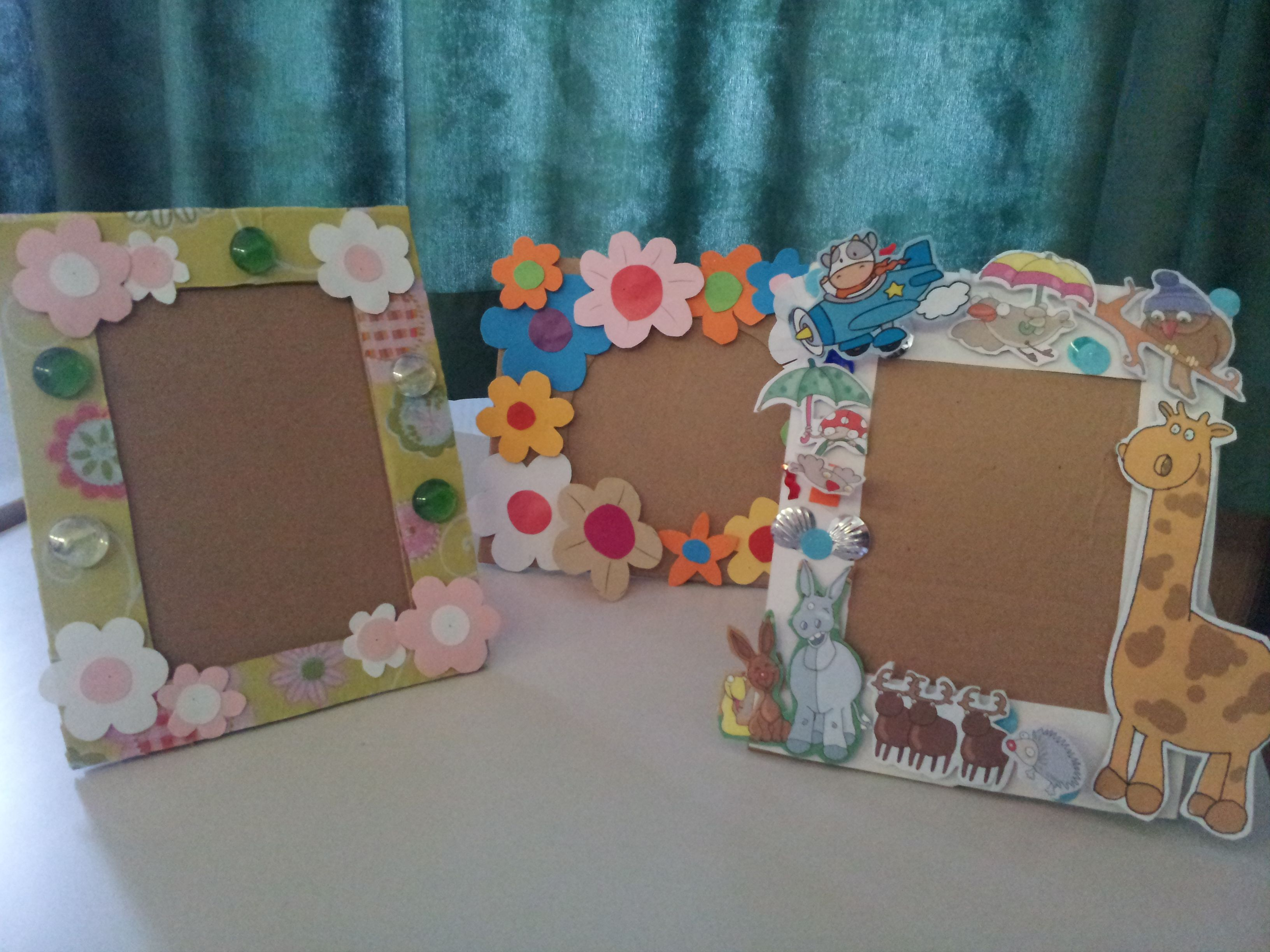 Diy Paper Frame Kids Art Homemade Pictures Homemade Picture