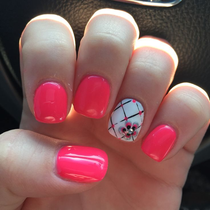 cool Pink spring nails... | Flowers Nail Art Designs ...
