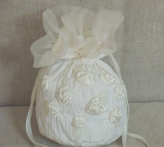 Bridal Wedding Bag Drawstring Money Purse With By Irengarden 48 00