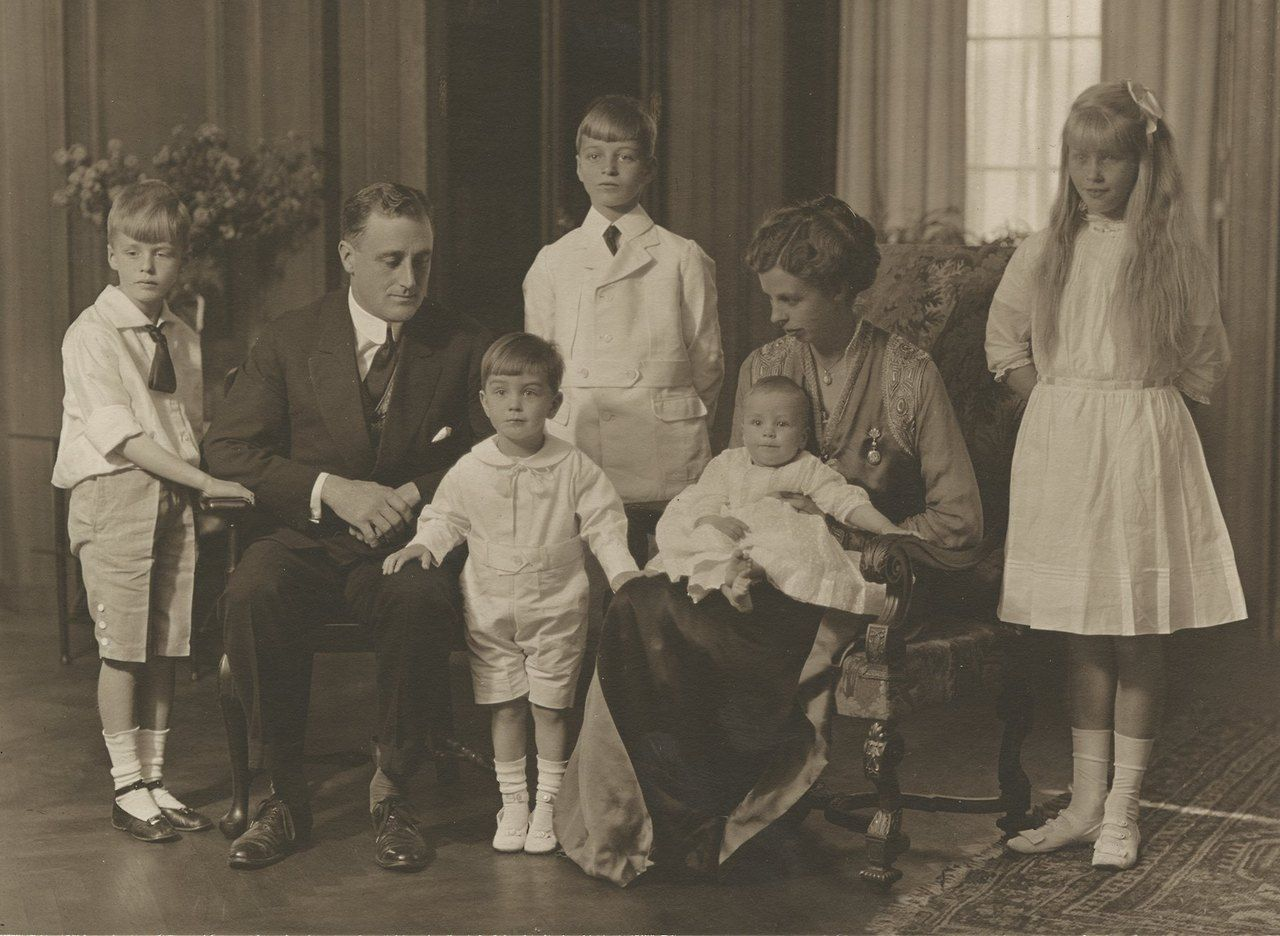 The Roosevelt family in 1916