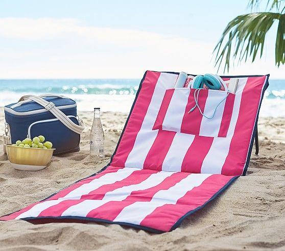 Pink Stripe Kid Beach Lounger Best Beach Chair Beach
