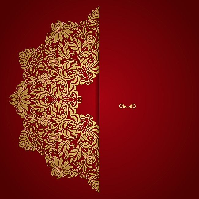 Red Wedding Invitation Vector Background Golden Grain Image Also Rh