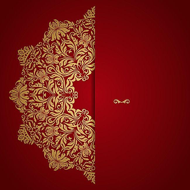 Fondo De Vector De Invitacion De Boda Roja Wedding Invitation Vector Wedding Invitation Background Red Wedding Invitations