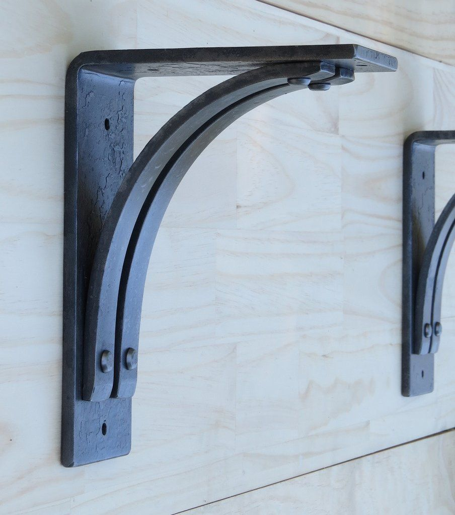 Metal mantle brackets