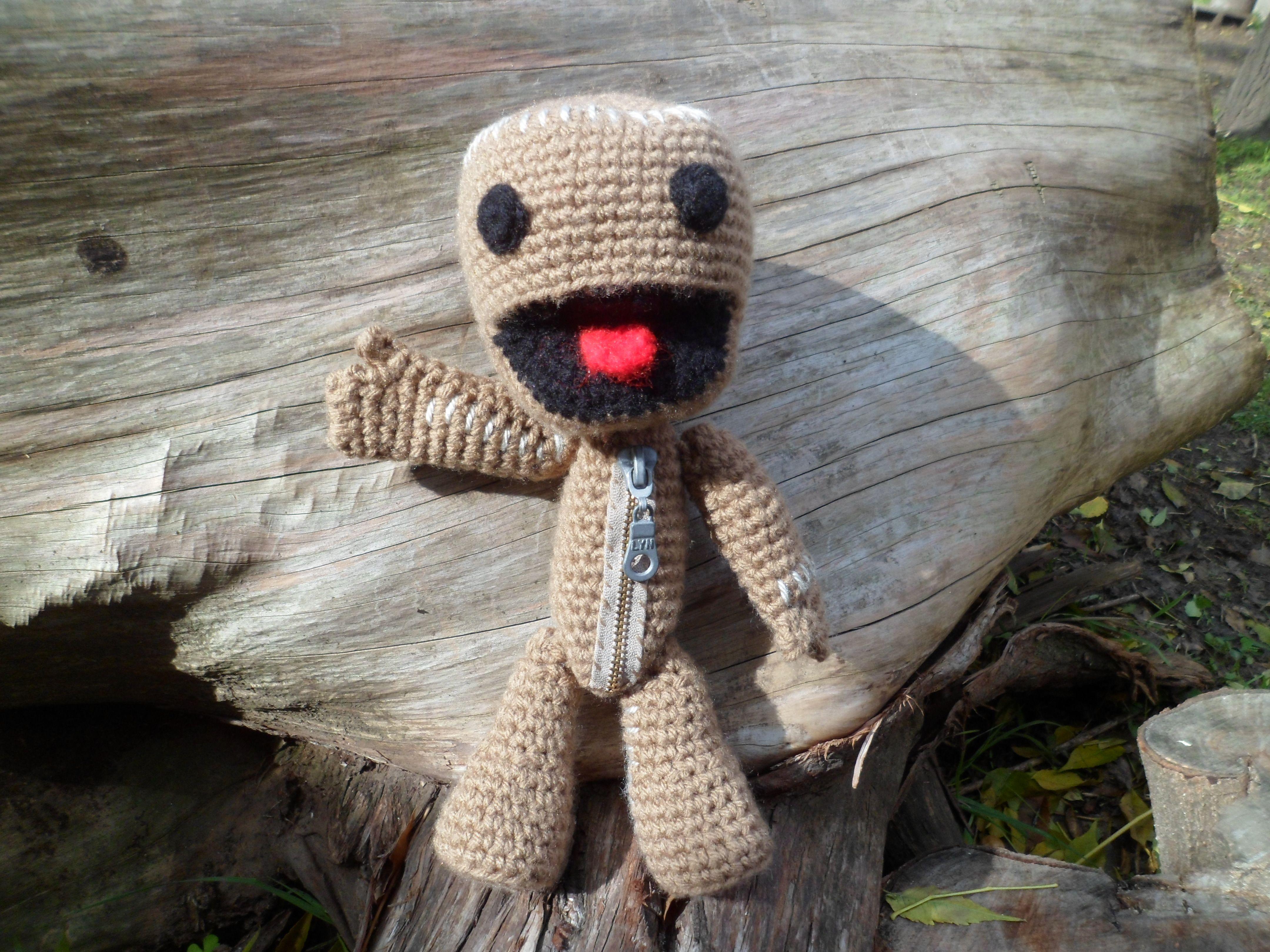 Amigurumi Crochet Personajes : Sackboy amiguri en ofeliafeliz ar amigurumis